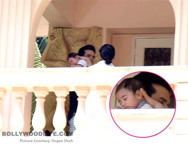 FIRST PICS: Tusshar Kapoor's son Laksshya sleeping on his shoulder is the cutest thing you will see today!