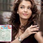 LEAKED: Aishwarya Rai Bachchan's old slam book page which reveals many secrets