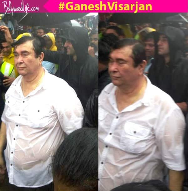Ganesh visarjan 2016: Ranbir Kapoor and Randhir Kapoor bid farewell to their Ganpati!