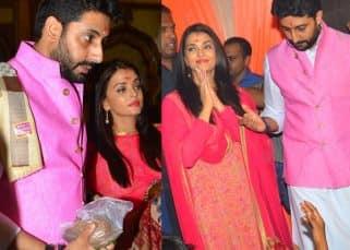 Abhishek and Aishwarya promote Amitabh Bachchan's Pink through their OOTD - View HQ pics!