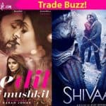 Ae Dil Hai Mushkil Vs Shivaay: Ranbir Kapoor and Ajay Devgn's films will earn a total of Rs. 100 crore over the opening weekend