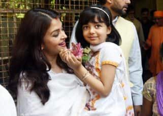 Aaradhya had a gala time attending Durga pooja with Aishwarya and Abhishek - view HQ pics