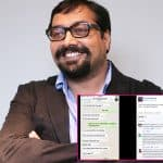Anurag Kashyap leaks his WhatsApp conversation with a reporter on Facebook and later deletes it