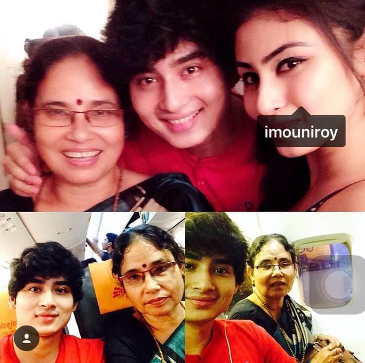Mouni Roy with family