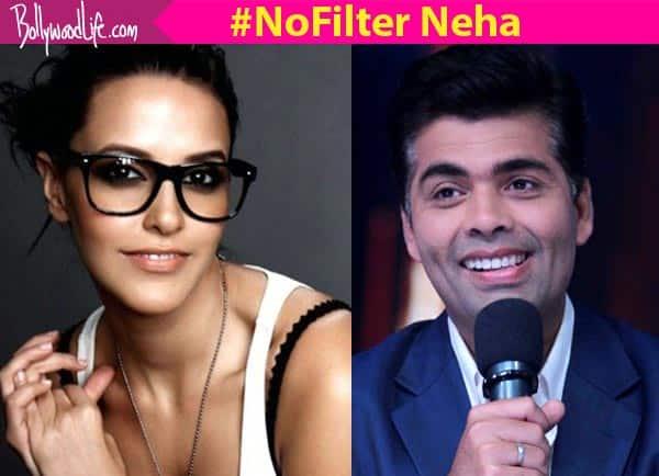 It was DIFFICULT to interview Karan Johar, reveals Neha Dhupia!