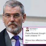 Pierce Brosnan thought Pan Bahar was a tooth whitener and twitteratis have the last laugh