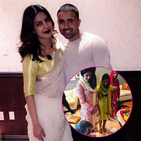 After her desi style New York party, Priyanka Chopra performs Diwali pooja with family