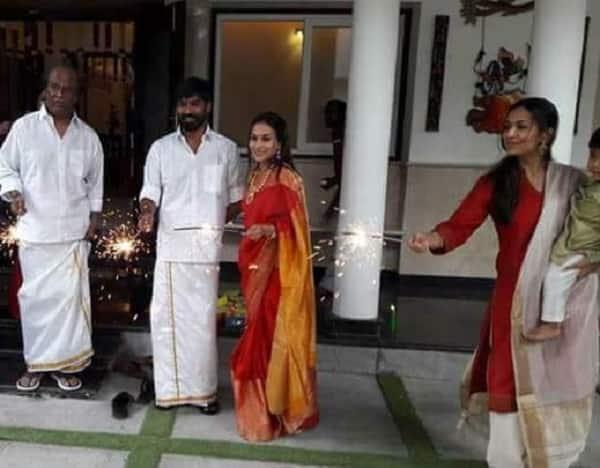 Superstar Rajinikanth celebrates Diwali with family – Dhanush, Aishwarya and Soundarya