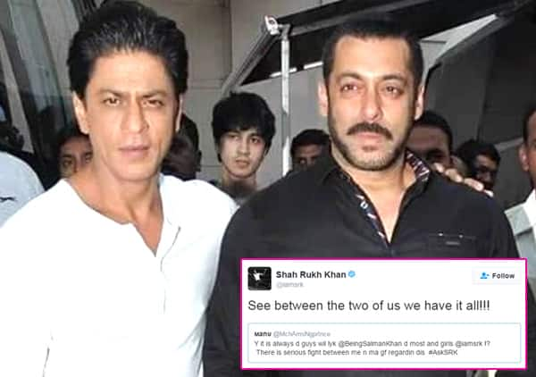 Shah Rukh Khan explains why guys like Salman Khan and girls fall for him