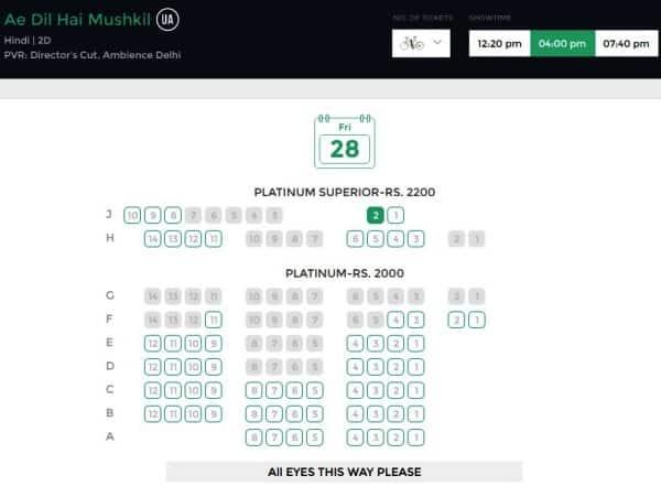 ae dil hai mushkil ticket prices latest(1)