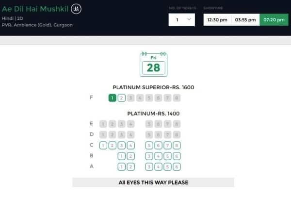 ae dil hai mushkil ticket prices latest(2)
