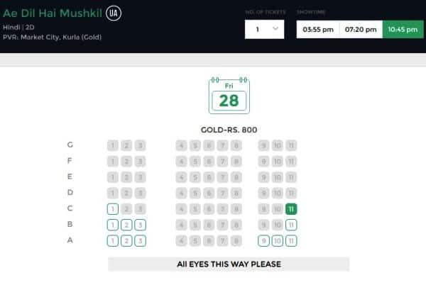 ae dil hai mushkil ticket prices latest(3)