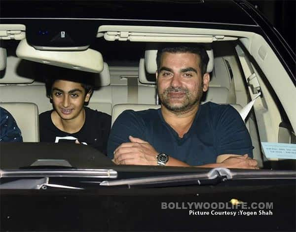 Arbaaz Khan at Salman Khan's party