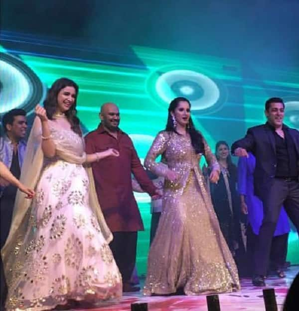 "Salman Khan and Parineeti Chopra 'Shake it Off"" on the dance floor of Sania Mirza's sister's wedding – watch video"