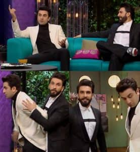 Ranveer Singh and Ranbir Kapoor's Koffee With Karan 5 appearance looks like a Dostana 2 audition - watch video!