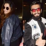 After lashing out at a journo on marriage question, Ranveer Singh and Deepika Padukone spotted at the airport - view HQ pics