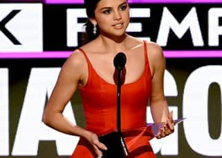 Selena Gomez makes a BANG ON appearance as she delivers an inspiring speech at AMAs 2016