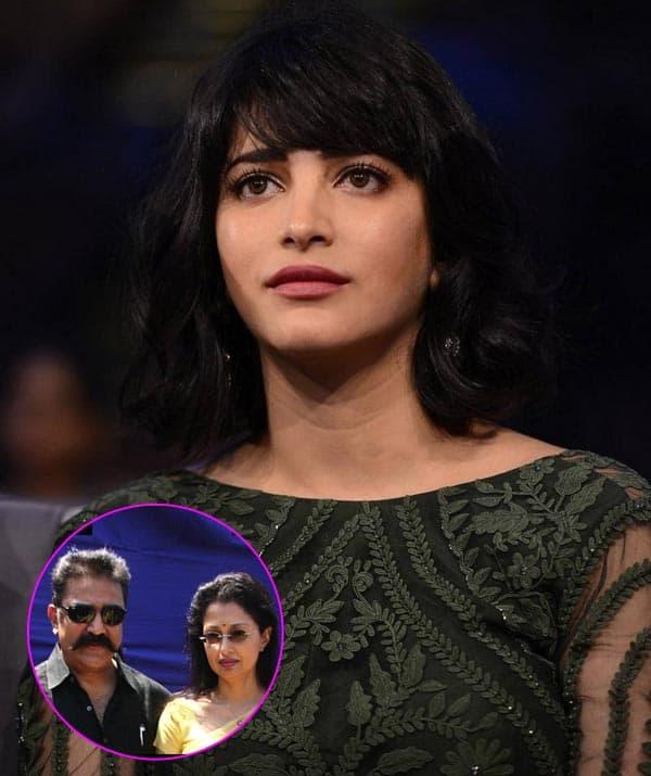 Shruti Haasan chooses to stay mum about the Kamal Haasan-Gautami split
