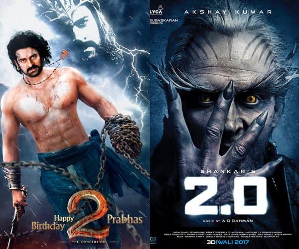 Rajinikanth and Akshay Kumar's 2.0 will beat Prabhas starrer 'Baahubali 2 ' on box office