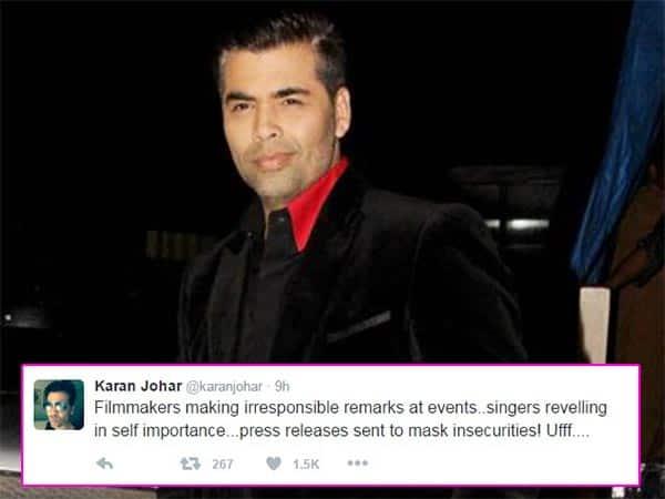 Karan Johar takes potshot at Sonu Nigam and Vidhu Vinod Chopra for their Ae Dil Hai Mushkil remark