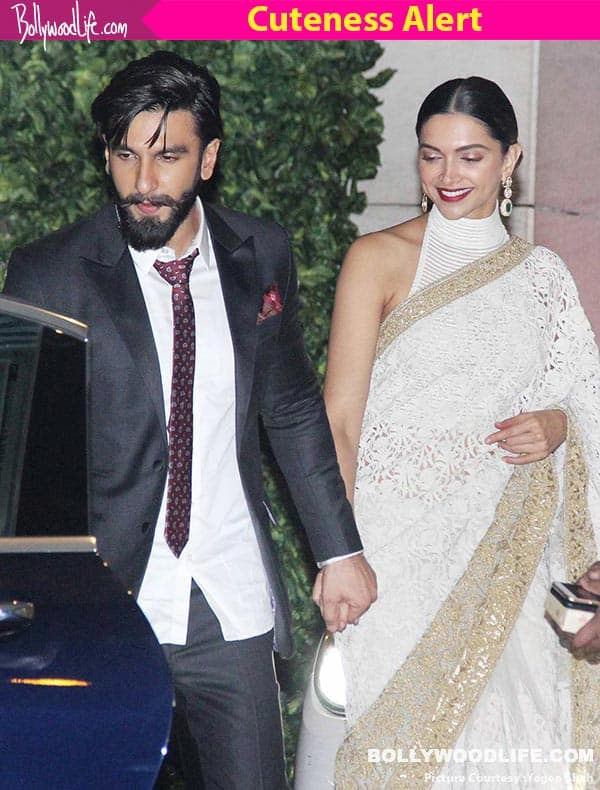 Deepika Padukone and Ranveer Singh leave Ambani's party hand in hand – view HQ pics