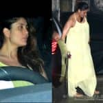Pregnant Kareena Kapoor Khan in NO MOOD to pose for the papz as she heads for a party - view HQ pics
