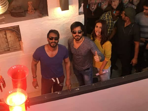 Ajay Devgn and Emraan Hashmi wrap the day 1 schedule of Baadshaho