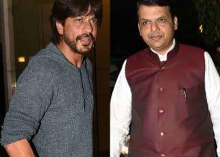 Shah Rukh Khan parties with Maharashtra CM Devendra Fadnavis - view HQ pics