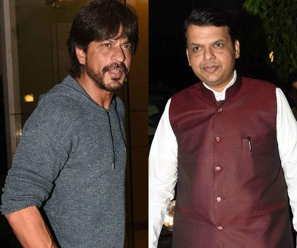 Shah Rukh Khan parties with Maharashtra CM Devendra Fadnavis – view HQ pics