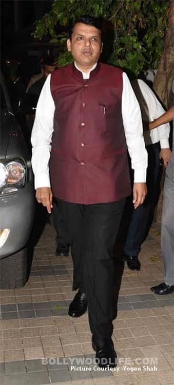 Maharashtra CM Devndra Fadnavis at Madhur Bhandarkar's housewarming party