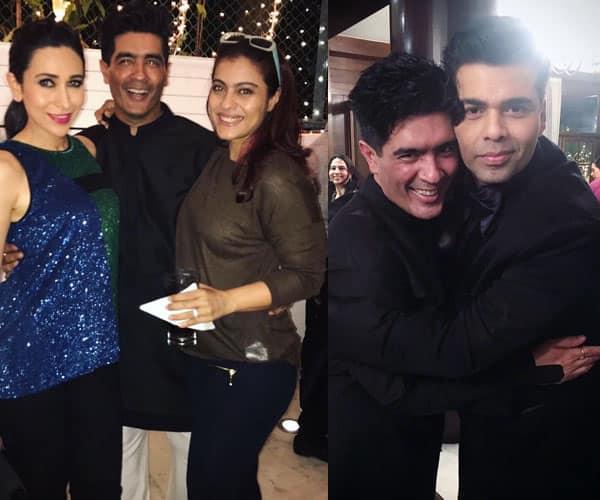 How Kajol and Karan Johar separately greeted birthday boy Manish Malhotra – view ALL pics