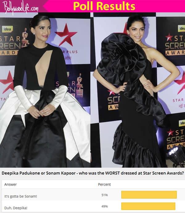 Sonam Kapoor beats Deepika Padukone to be the WORST dressed at Screen Awards