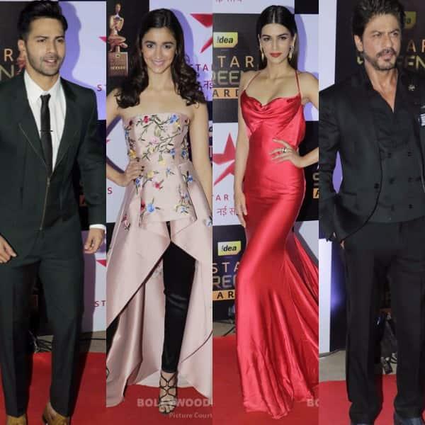 star screen awards 2016 red carpet varun dhawan shah rukh khan