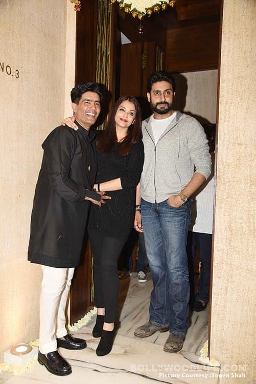 Aishwarya Rai Bachchan, Abhishek Bachchan, Karisma Kapoor at Manish Malhotra's 50th birthday bash – view HQ pics!