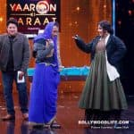 Vidya Balan and Sujoy Ghosh's cross - dressing was the highlight of tonight's episode of Yaaron Ki Baraat