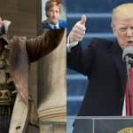 US President Donald Trump delivers a speech inspired by The Dark Knight Rises' villain Bane