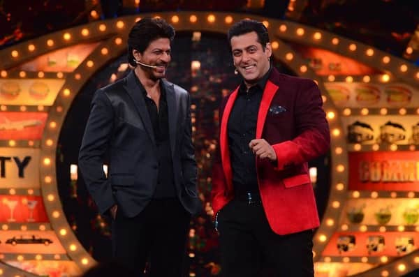 Image result for latest images of bigg boss 12 salman khan with shahrukh khan