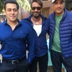 What fight? Salman Khan surprises Ajay Devgn on the sets of Baadshaho - view pic