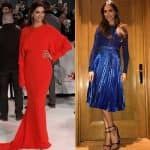 Deepika Padukone's chic blue avatar or red hot gown - what's your pick?