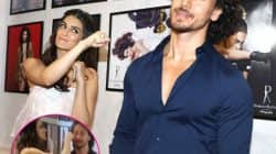 WTF! Kriti Sanon KNOCKED OUT Tiger Shroff at the Dabboo Ratnani calendar launch – watch video