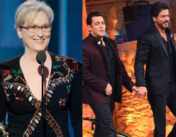 Here's why Shah Rukh Khan, Salman Khan or Aamir Khan can never pull off a Meryl Streep at Bollywood award functions