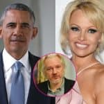 Pamela Anderson writes a letter to Barack Obama urging him to consider 'pardoning' Julian Assange