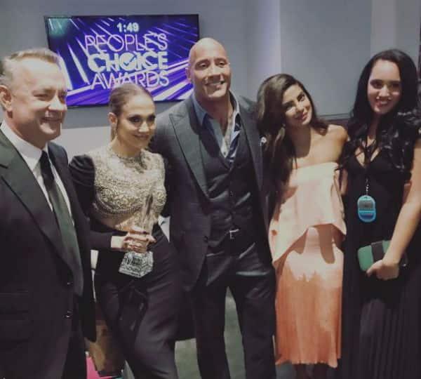 Priyanka Chopra shares an 'award winning' pic with The Rock, Jennifer Lopez and Tom Hanks
