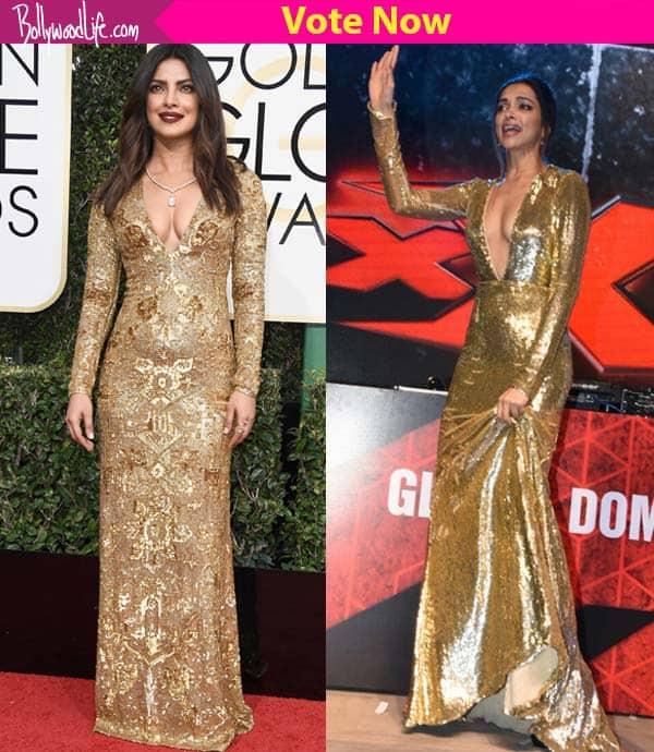 Deepika Padukone or Priyanka Chopra - whose golden avatar impressed ...