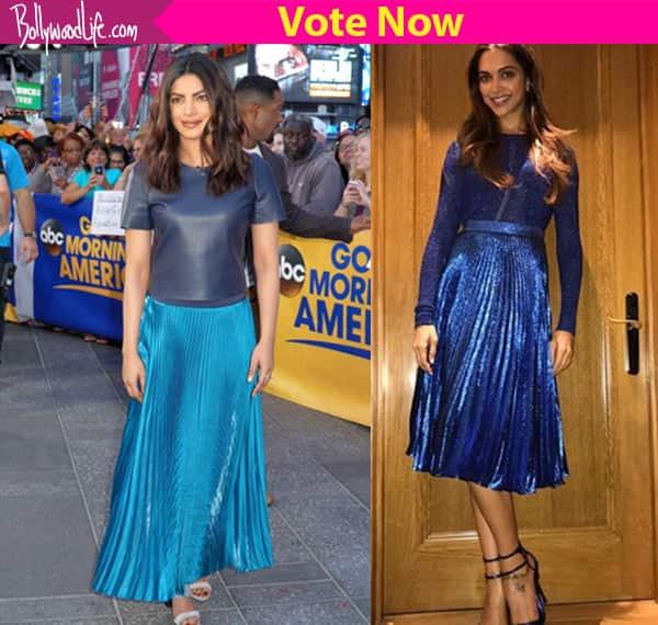 Priyanka Chopra or Deepika Padukone – who rocked the metallic blue skirt?