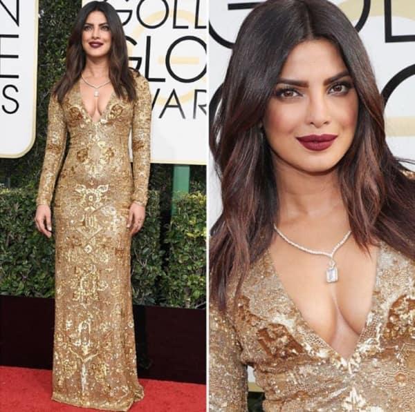 Resultado de imagem para Priyanka Chopra at Golden Globe 2017