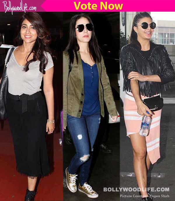 Shriya Saran, Sunny Leone, Jacqueline Fernandez – who rocked the airport look?