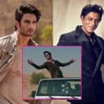 Sushant Singh Rajput tries to pull off a Shah Rukh Khan and gets a thumbs up from his idol - watch video