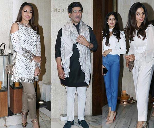 Sridevi, Sonakshi Sinha, Kriti Sanon, Raveena Tandon at Manish Malhotra's party – view HQ pics!