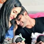 Karanvir Bohra posts a pic with wife Teejay and his twins on her birthday